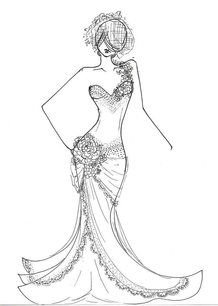 free fashion girl coloring pages - photo#8