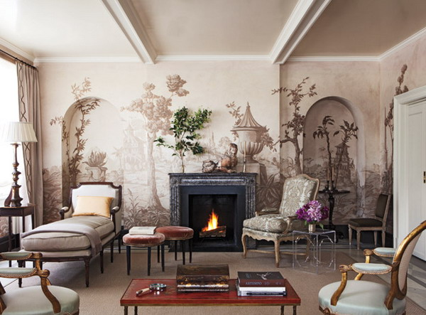 Cool wallpapers kristie manning for Wall coverings for living room