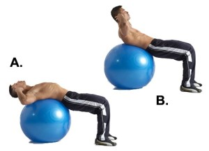Excercise-ball-crunch