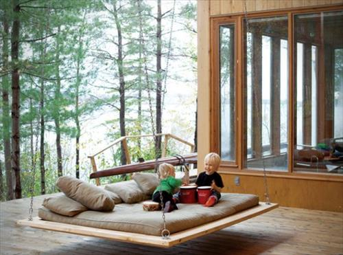 beautiful-rustic-pallet-swing-bed-furniture